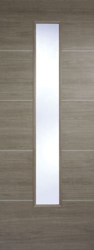 Santandor Glazed Light Grey Laminate Internal Door